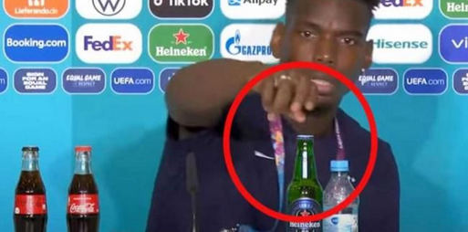 Usai Ronaldo, Paul Pogba Singkirkan Botol Bir di Euro 2020